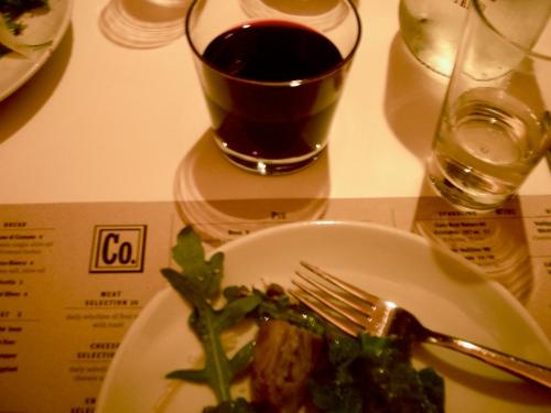 wine and artichoke